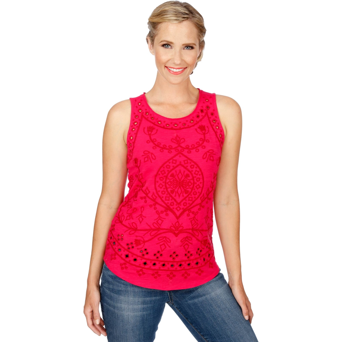 a3b61c910dcec Lucky Brand Embroidered Eyelet Tank