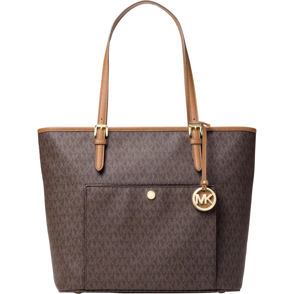 f5bfdebebc13 Michael Kors Jet Set Large Top Zip Snap Pocket Tote