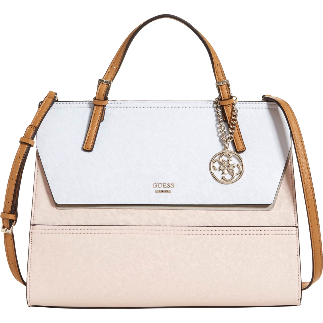 Guess Huntley Top Handle Satchel Handbag