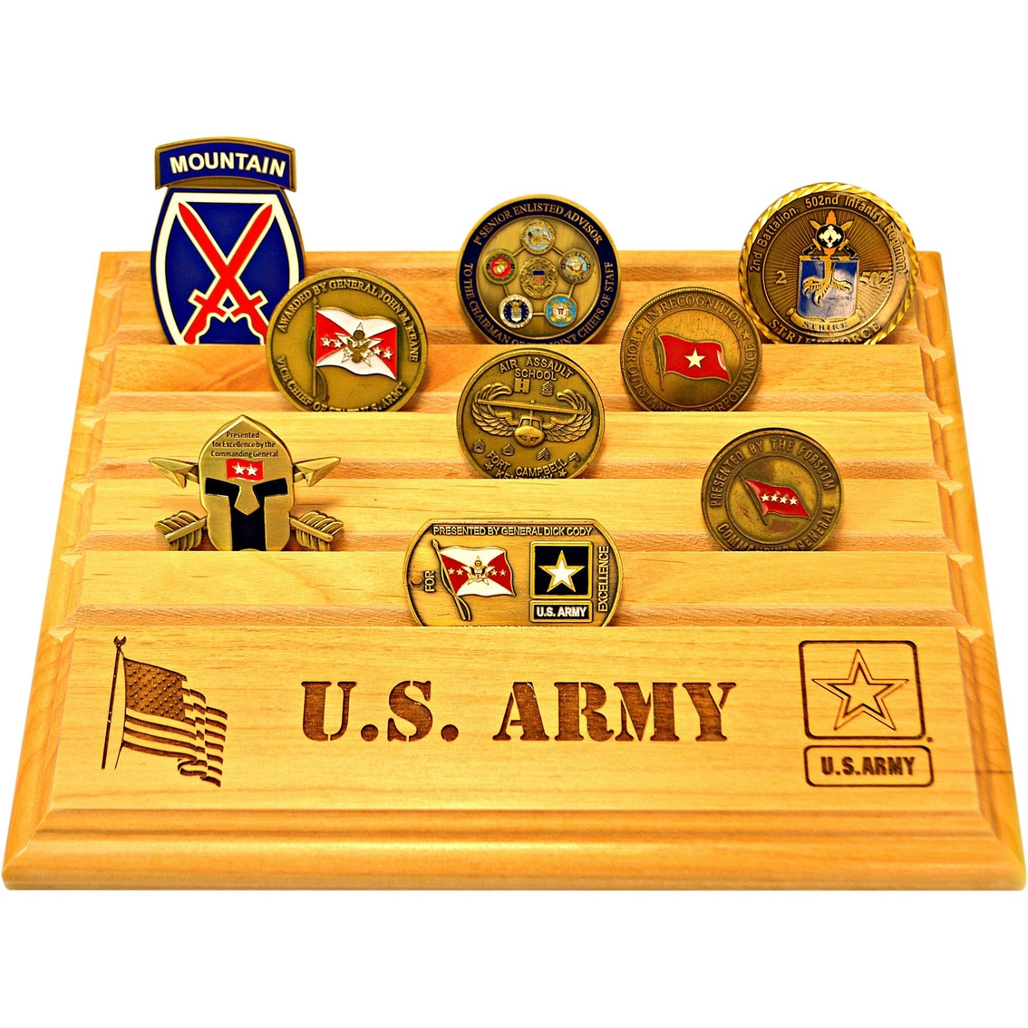 Mi Engraving Army 8 X 10 Coin Holder | Coins & Cases | Gifts & Food