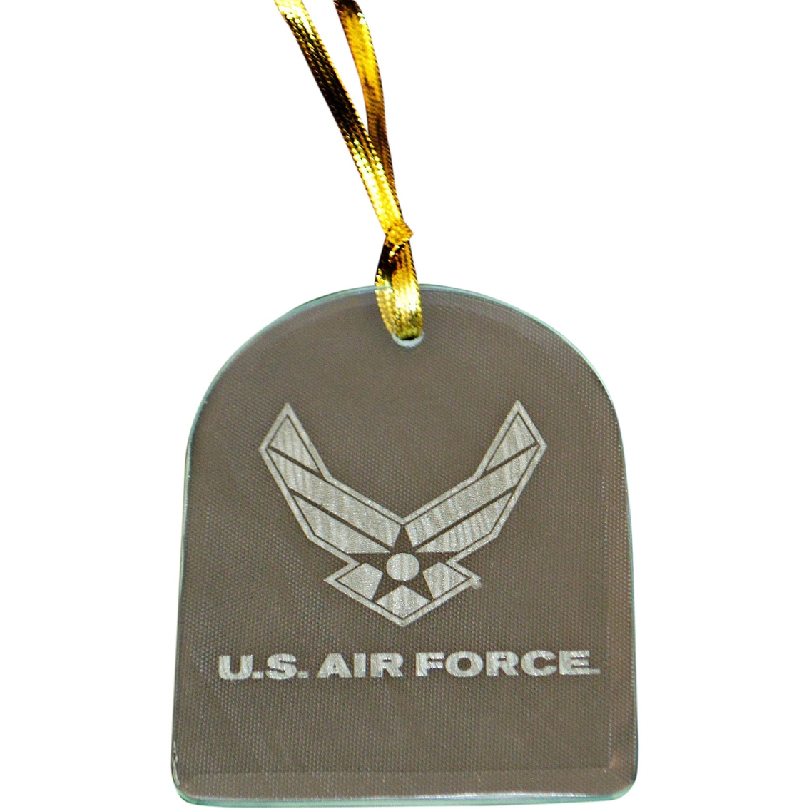 Mi Engraving Air Force Laser Etched Glass Ornament Home
