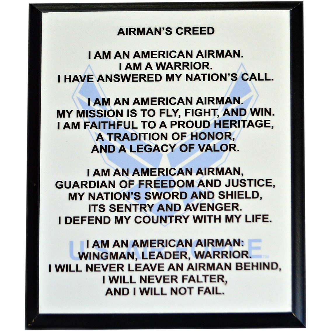 Mi engraving 8 x 10 usaf airman creed plaque military logo gear mi engraving 8 x 10 usaf airman creed plaque thecheapjerseys Images