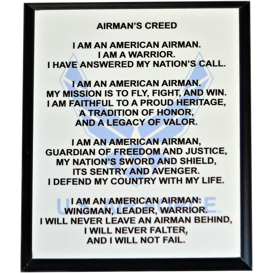 Mi engraving 8 x 10 usaf airman creed plaque military logo gear mi engraving 8 x 10 usaf airman creed plaque altavistaventures Images