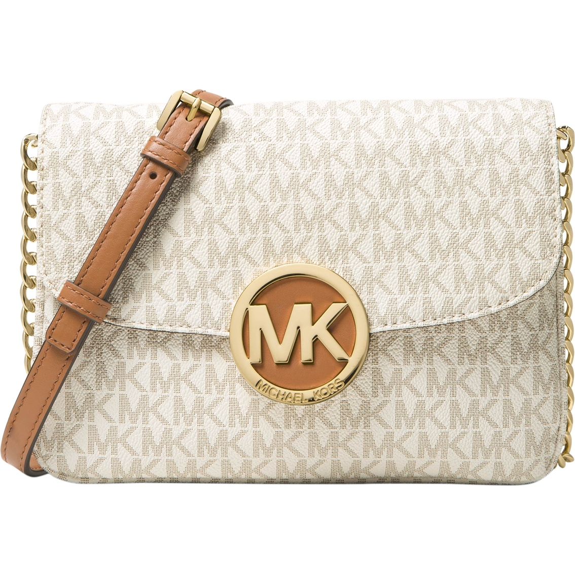 9316a7d83c20 Michael Kors Fulton Flap Gusset Crossbody Handbag | Handbags | Shop ...