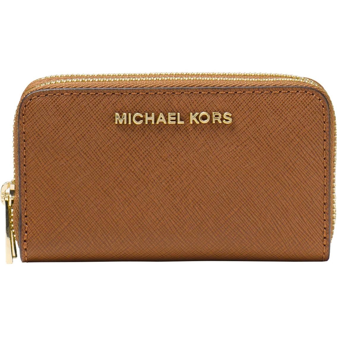 67bf198a3279 Michael Kors Jet Set Travel Double Zip Around Card Holder
