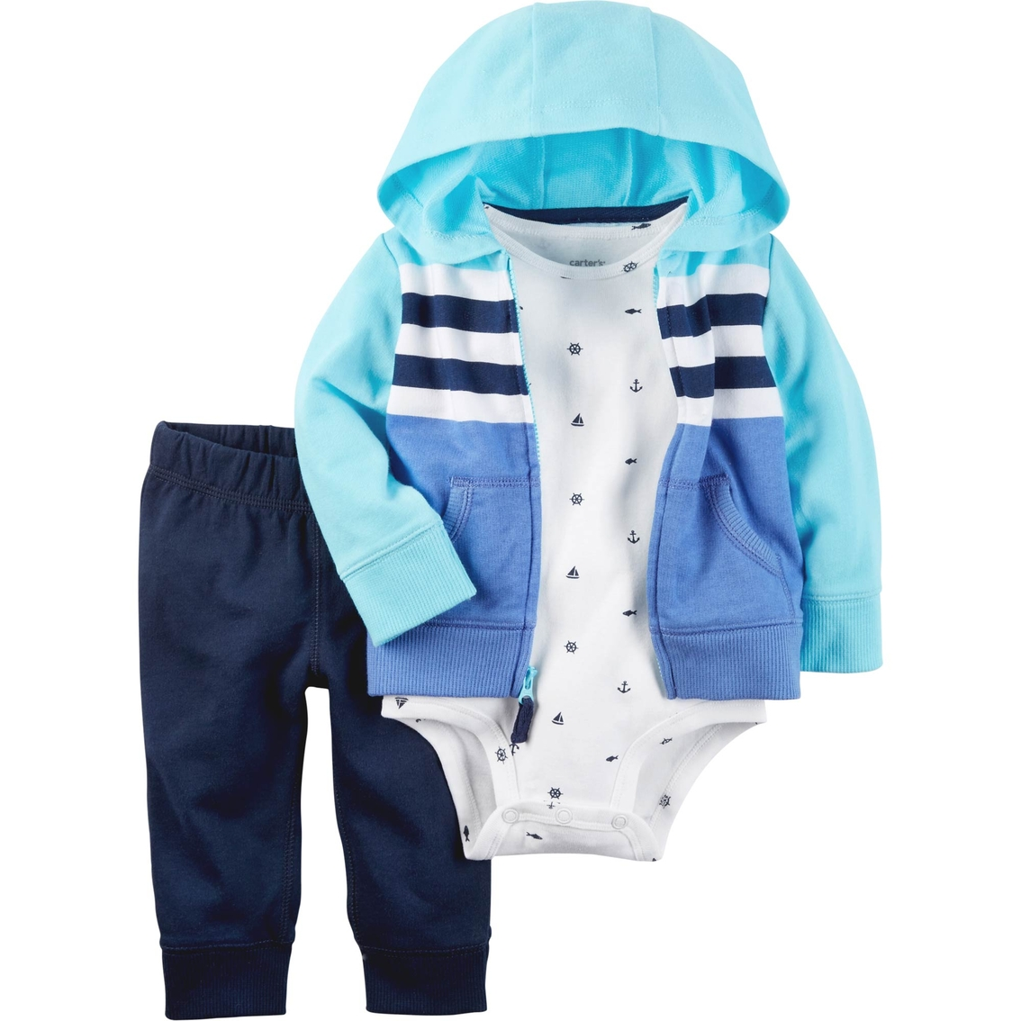 41094d149987 Carter s Infant Boys 3 Pc. Stripe Cardigan Set