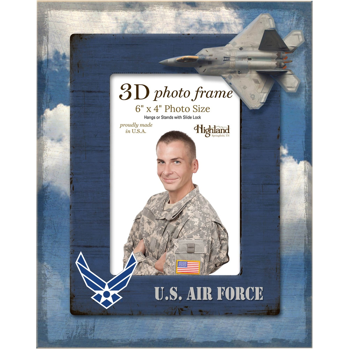Highland 4x6 3d photo vertical frame air force home for Decor 6 air force