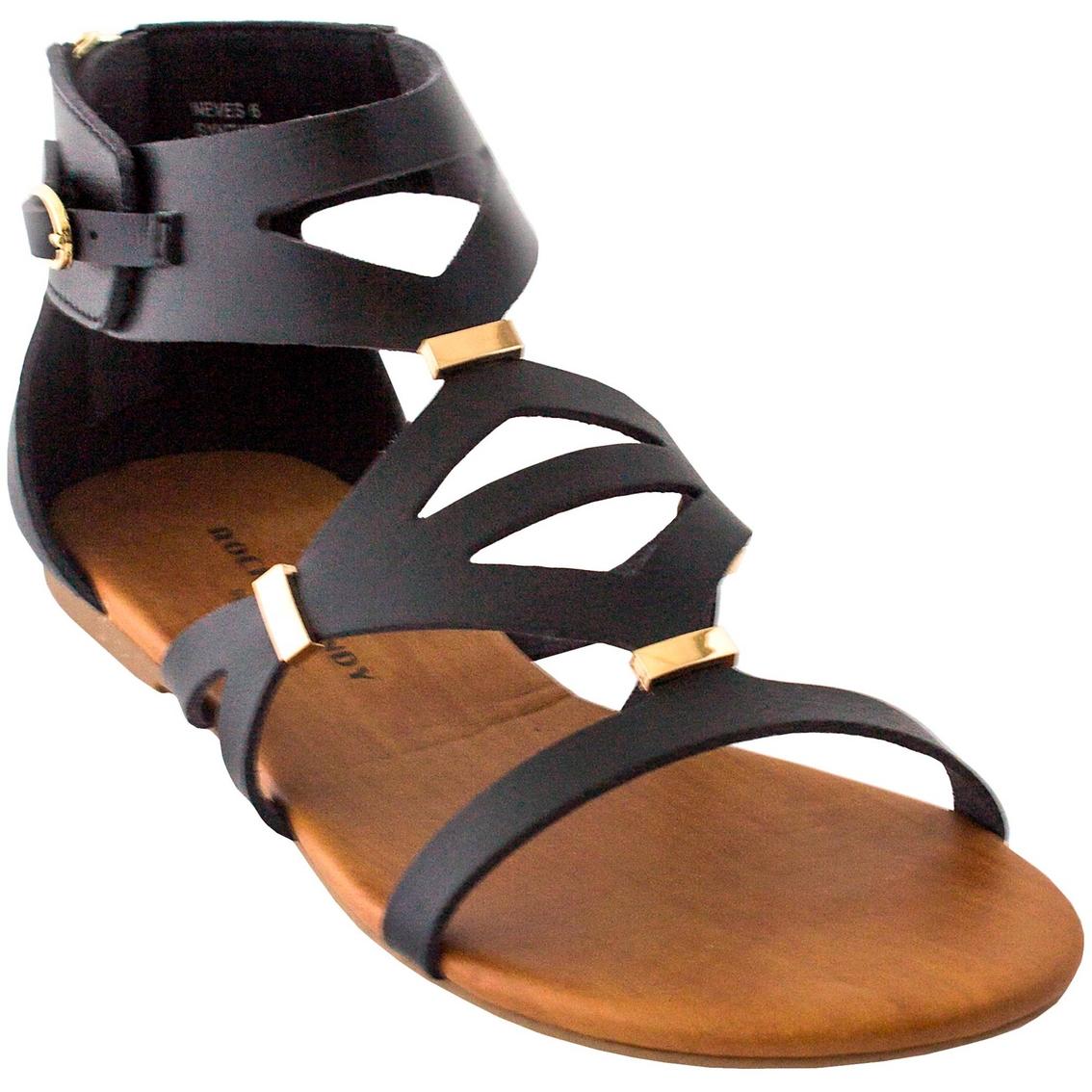 aa27de1b80a2 Rock   Candy Neves Back Zip Flat Gladiator Sandals