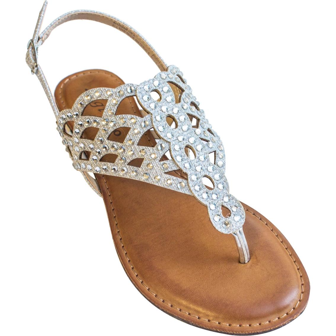 28420cb54d3c Zigi Soho Mella Back Zip Laser Cut Thong Sandals