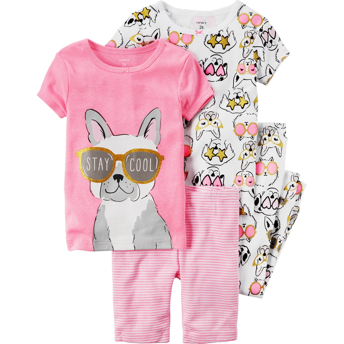 6048b50f9e55 Carter s Infant Girls 4 Pc. Dog Pajama Set