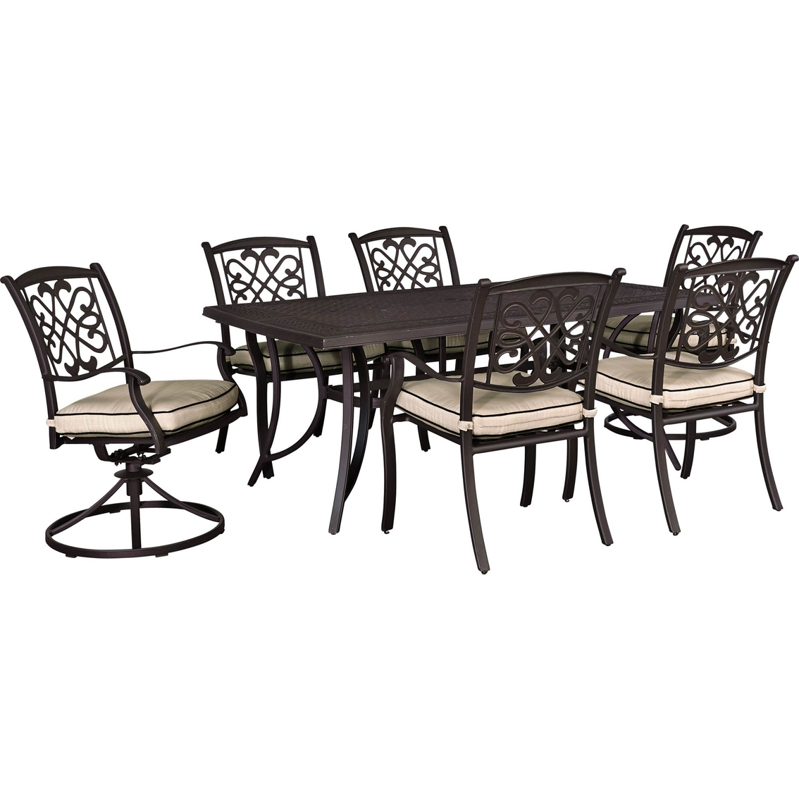 Admirable Ashley Burnella Outdoor Dining Table With Four Dining Chairs Evergreenethics Interior Chair Design Evergreenethicsorg