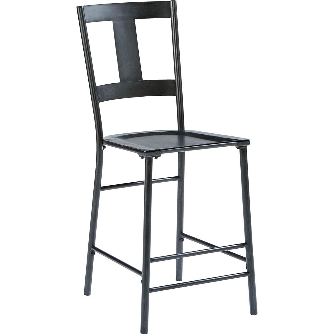 Magnolia home t back metal bar stool 2 pk bar furniture for Magnolia home furniture bar stools