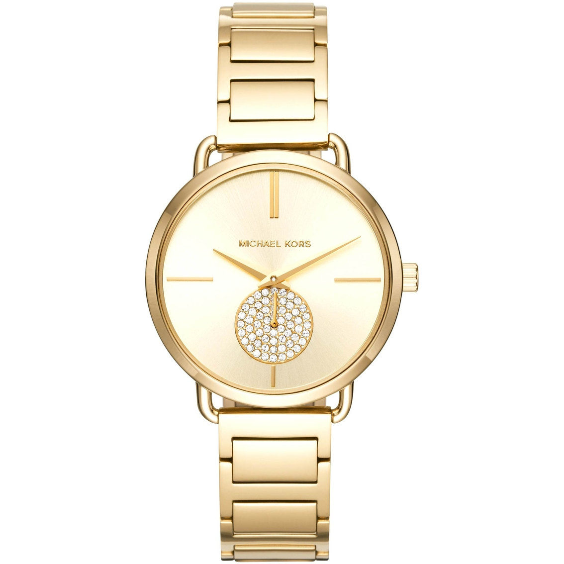 26ffde7d6b86 Michael Kors Women s Portia Goldtone Two Hand Sub Eye Watch 36.5mm MK3639