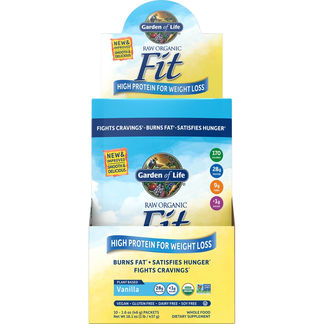 Garden Of Life Raw Fit Vegan Protein Powder Packet 10 Pk Protein Sports Outdoors Shop The Exchange