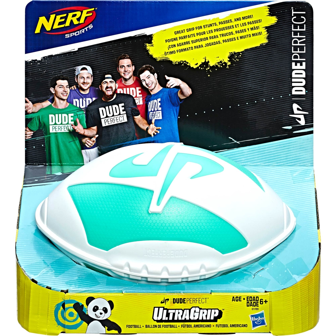 nerf sports dude perfect ultragrip football toy blasters nerf