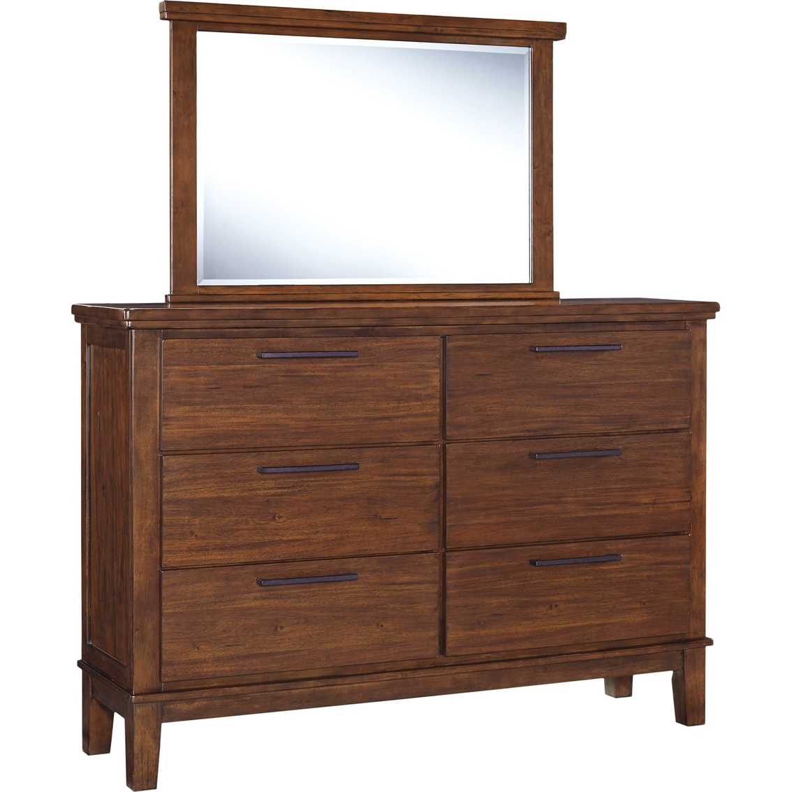 Signature design by ashley ralene dresser and mirror set dressers home appliances shop for Ashley furniture ralene bedroom set