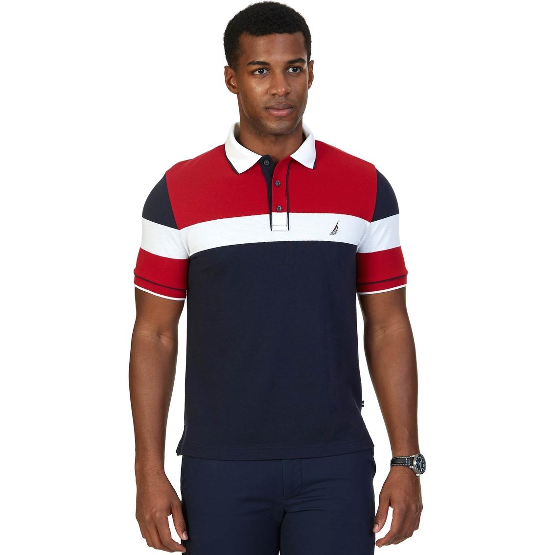 Nautica Mens Pieced Colorblock Shirt