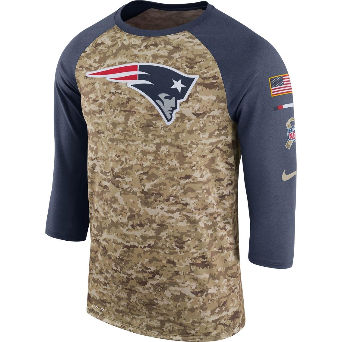 9cc9fae3 Nike Nfl New England Patriots Salute To Service Raglan Tee | Shirts ...