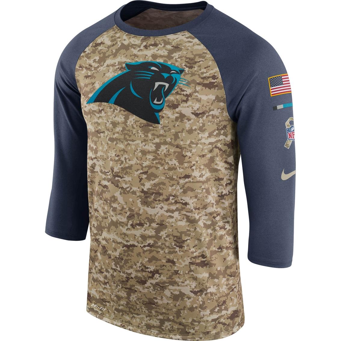 pretty nice 3a828 193a3 Nike Nfl Carolina Panthers Salute To Service Raglan Tee ...