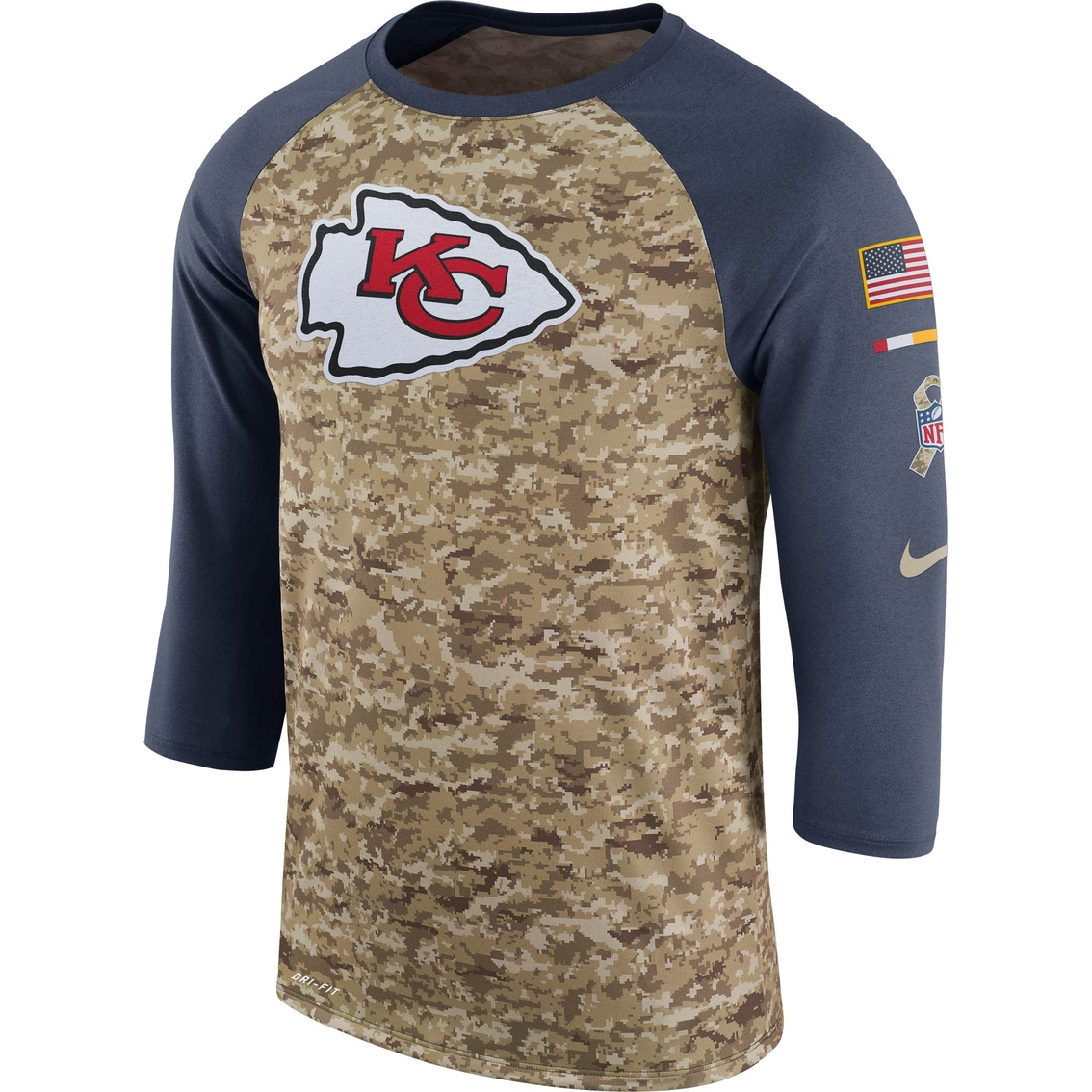 super popular 65b1c 0782d Nike Nfl Kansas City Chiefs Salute To Service Raglan Tee ...