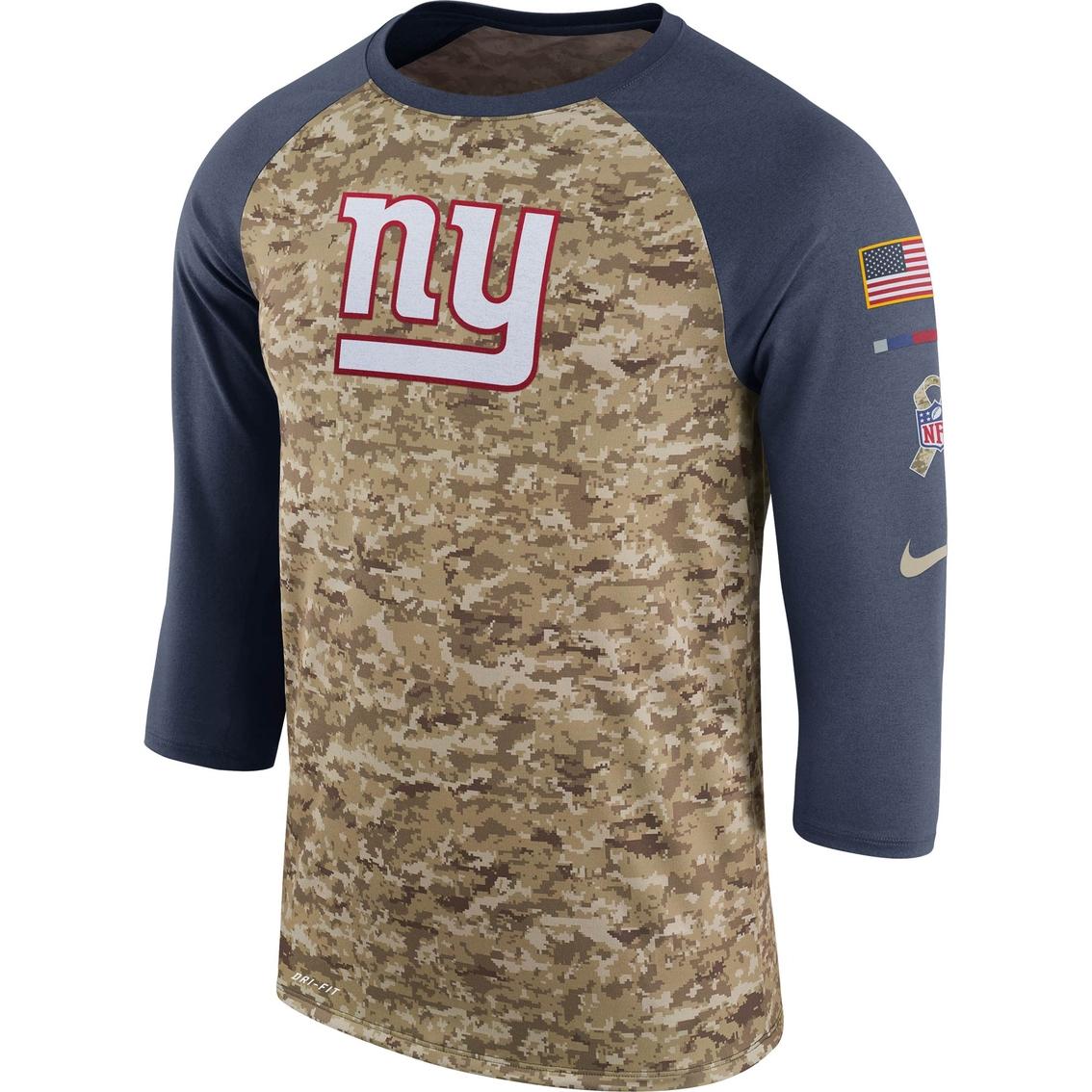 Nike Nfl New York Giants Salute To Service Raglan Tee  fd5fd1eaf
