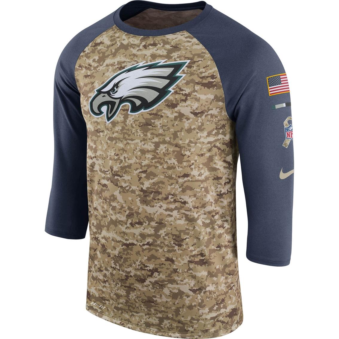 pretty nice 1d229 55fcf Nike Nfl Philadelphia Eagles Salute To Service Raglan Tee ...