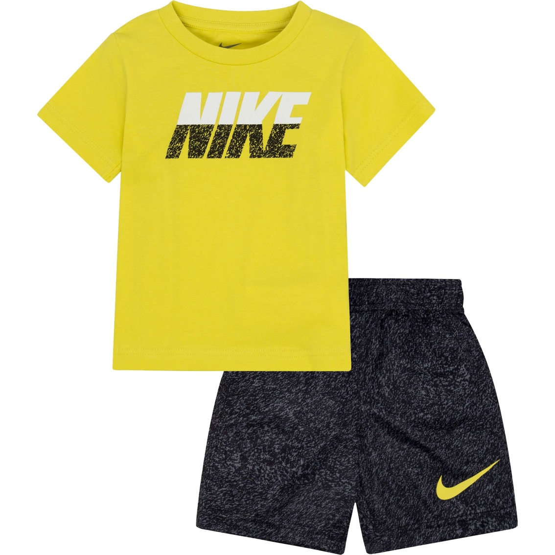 Nike Toddler Boys 2 Pc. Cotton Jersey Tee And Split Shorts Set ... d6f1ea193