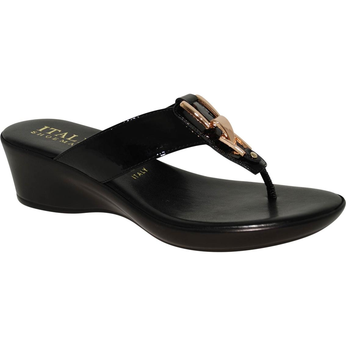 75d4ef1f078f Italian Shoemaker Gema Ornament Thong Wedge
