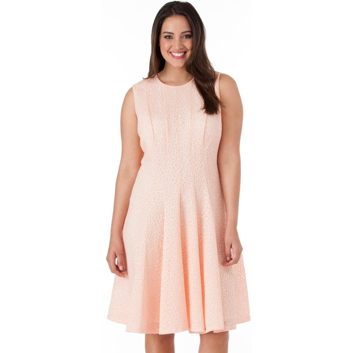 21e4660b250 Calvin Klein Plus Size Laser Cut Flare Dress