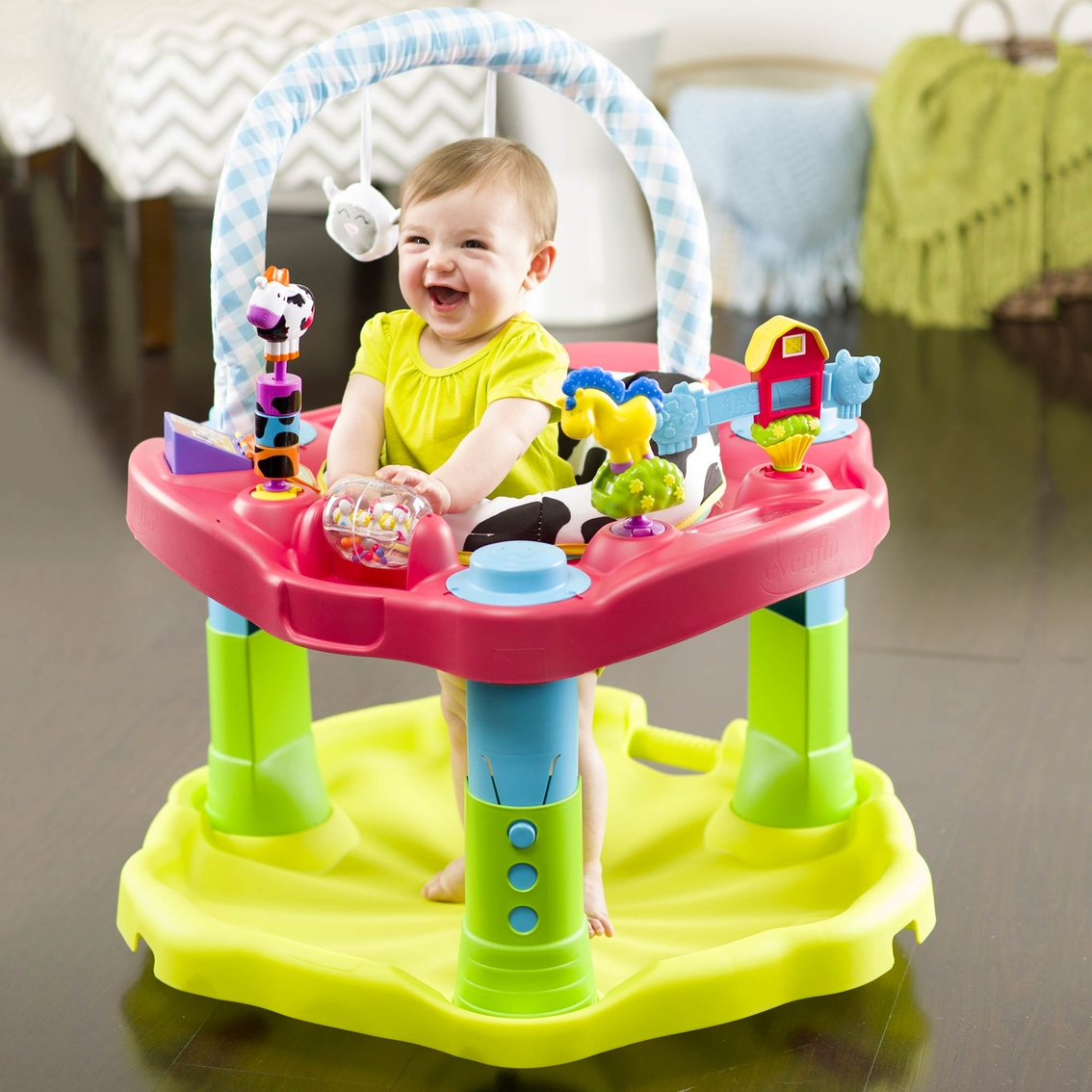 Picture of: Evenflo Exersaucer Mega Saucer Activity Centers Walkers Baby Toys Shop The Exchange