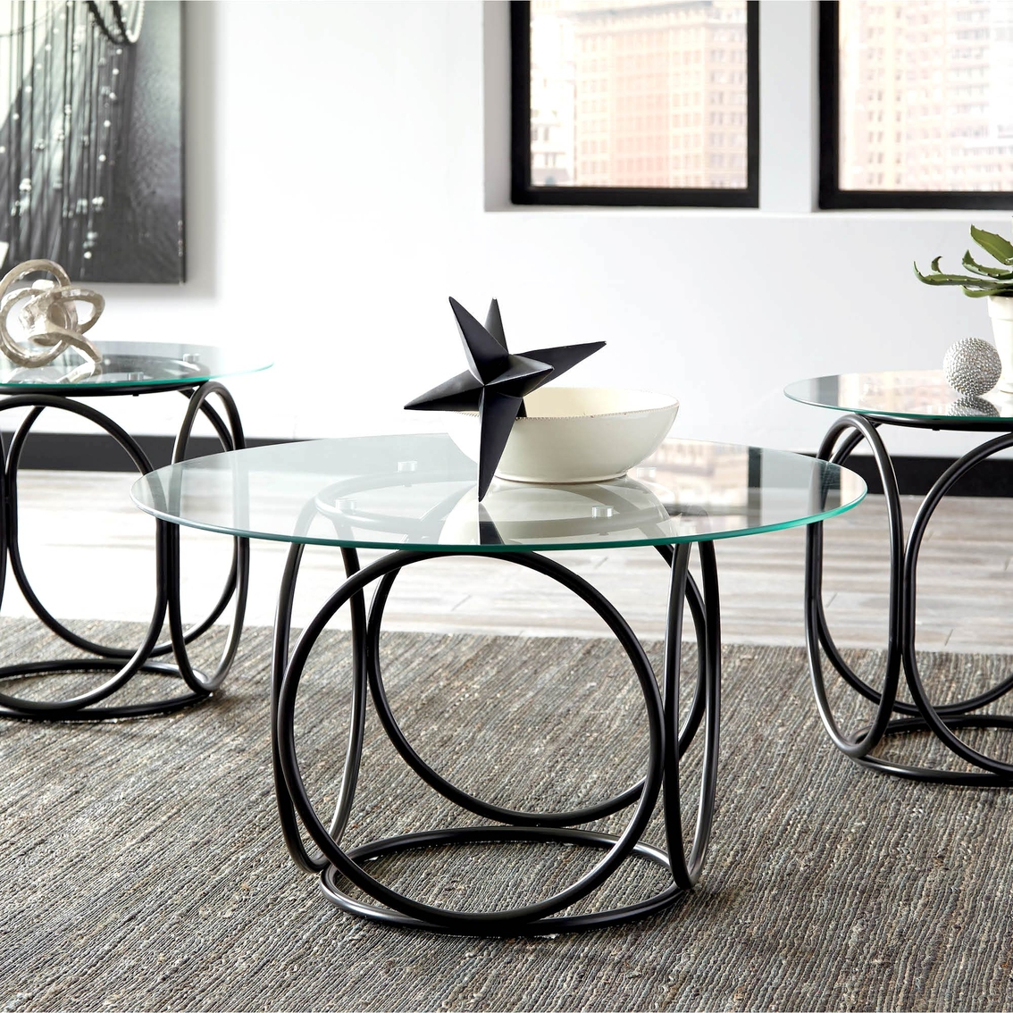 Signature Design By Ashley Quassey Table 3 Pc. Set | Living Room ...