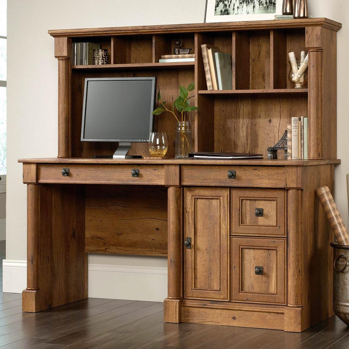Sauder Palladia Computer Desk With Hutch Desks More