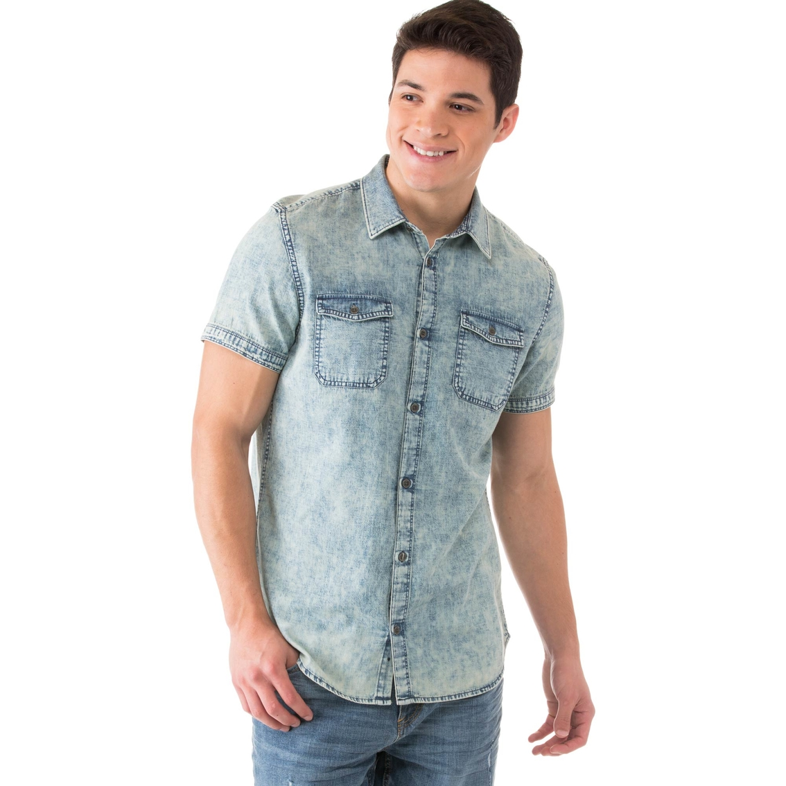4b331d60110 Calvin Klein Jeans River Tint Denim Shirt