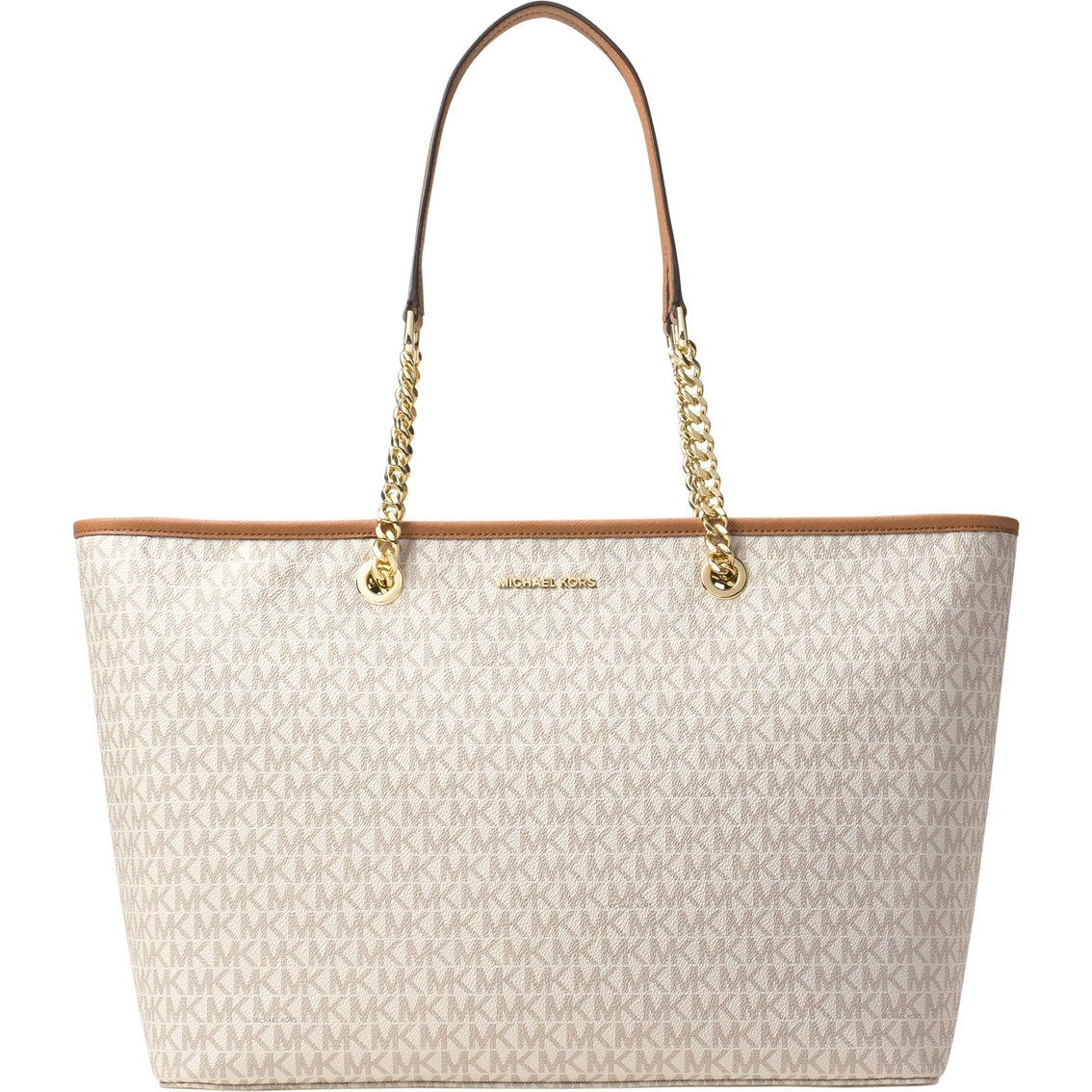 70fa442f61ad Michael Kors Jet Set Travel Chain Medium Top Zip Multi Function Tote ...