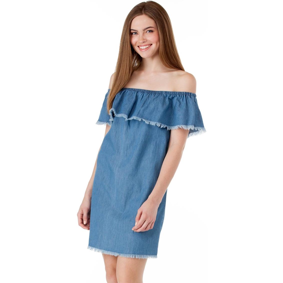 85b7991ca Derek Heart Juniors Off Shoulder Dress With Ruffle   Dresses ...