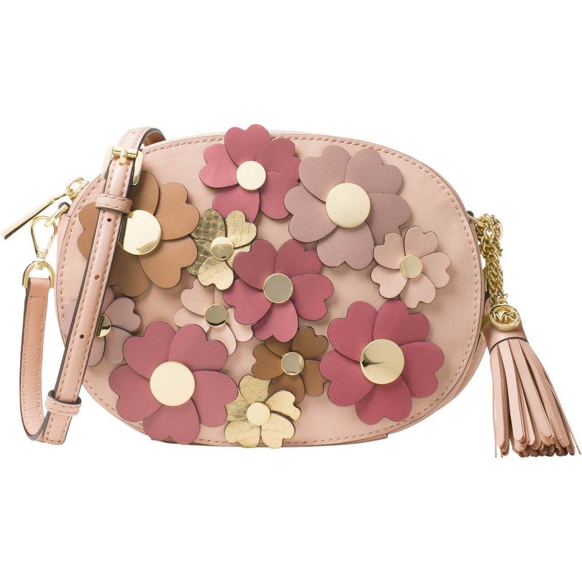 6dad25e252f8 Michael Kors Floral Applique Ginny Medium Messenger | Handbags ...