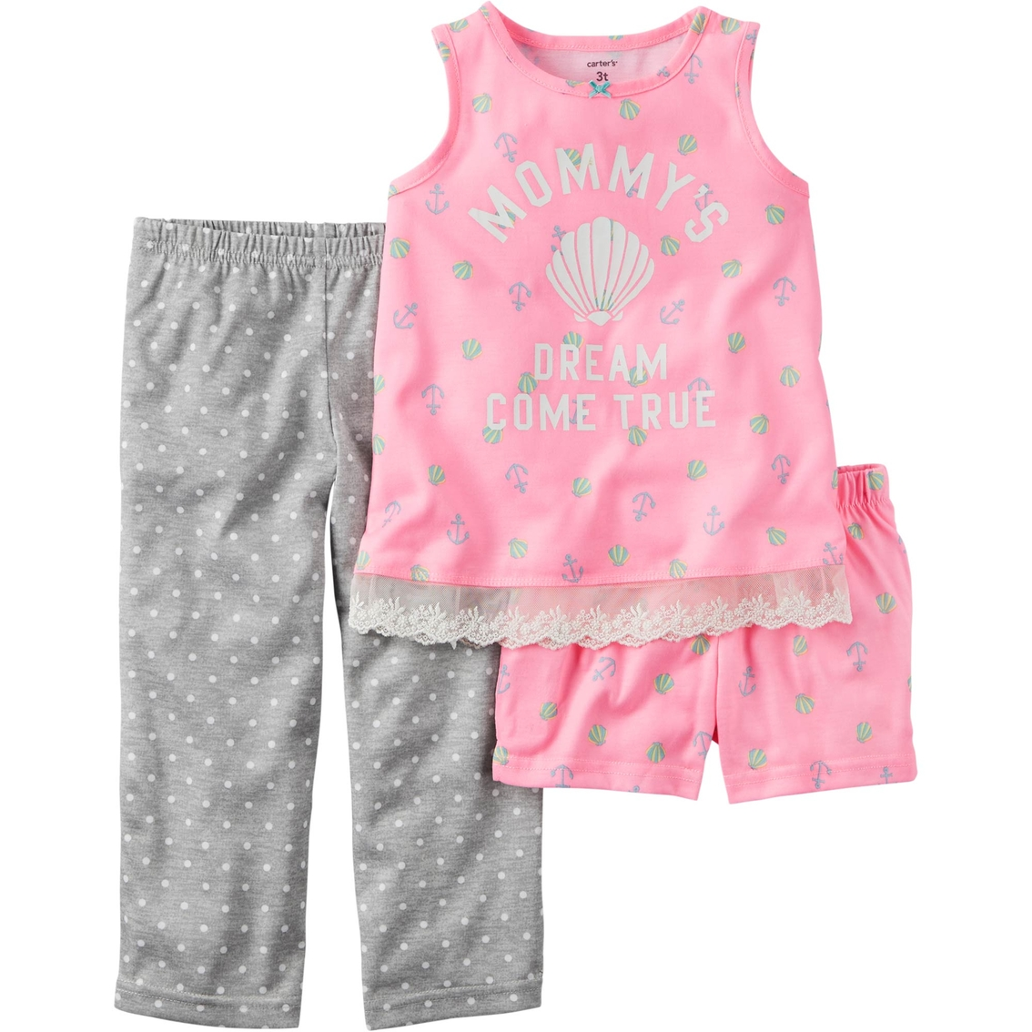 5e93025d78eb Carter s Infant Girls 3 Pc. Pajama Set