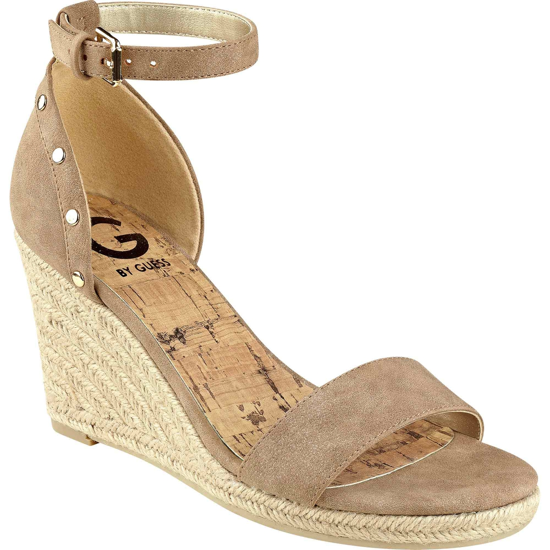 460c19999f3 G By Guess Bae Ankle Strap Wedge Sandals