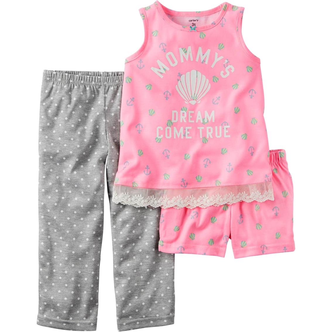 c44f90eb5 Carter s Toddler Girls 3 Pc. Mermaid Cove Pajama Set