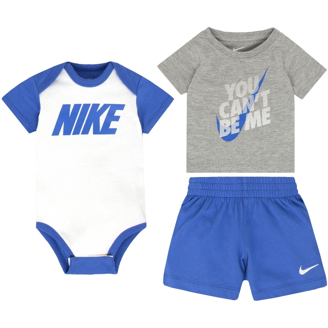 23b103d2b002 Nike Infant Boys Creeper, Tee And Shorts 3 Pc. Set   Baby Boy 0-24 ...