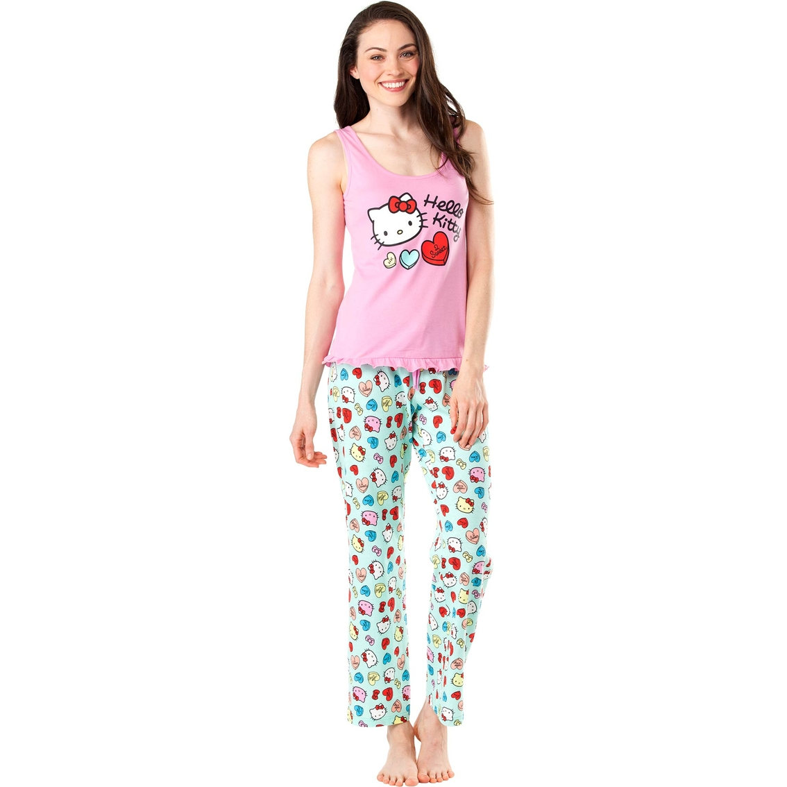 4bee9f4c01 Hello Kitty Tank Top Pajama Set