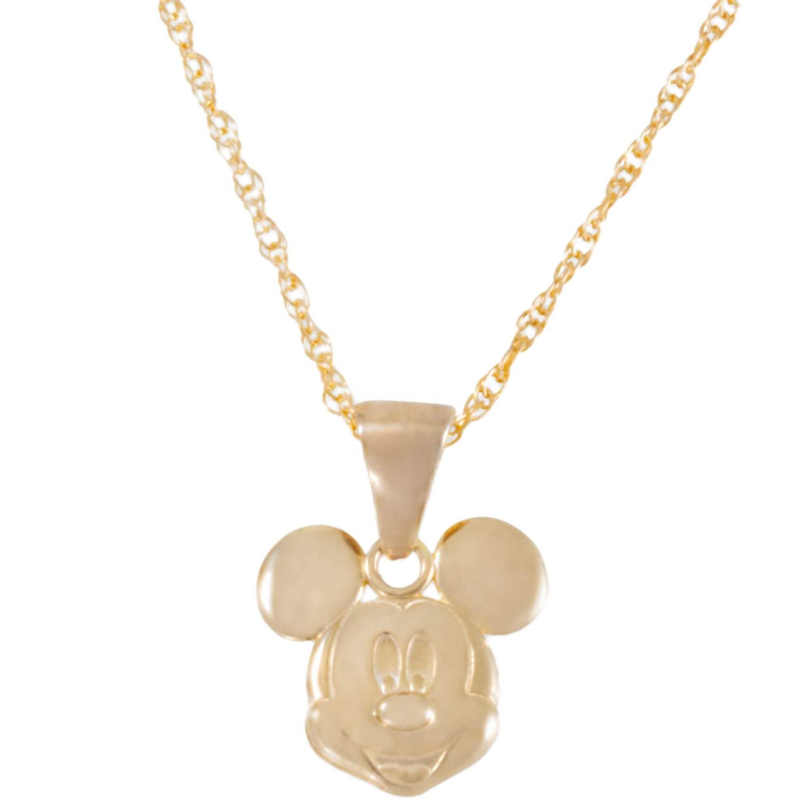 abde8185d63 Disney 14k Gold Mickey Mouse Pendant, 15 In. | Children's Necklaces ...