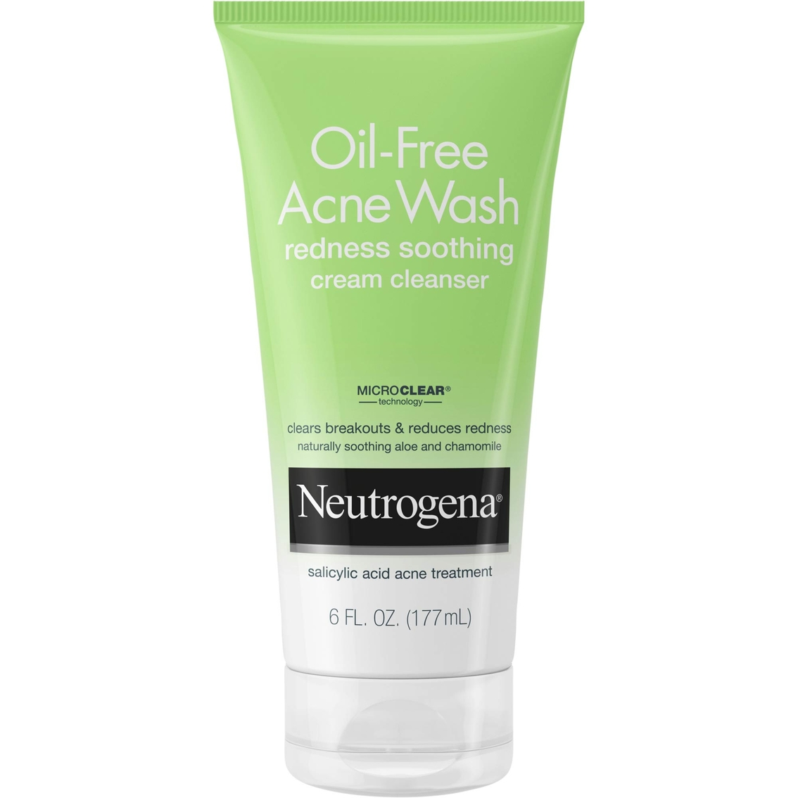 Neutrogena Oil Free Acne Wash Redness Soothing Cream Facial