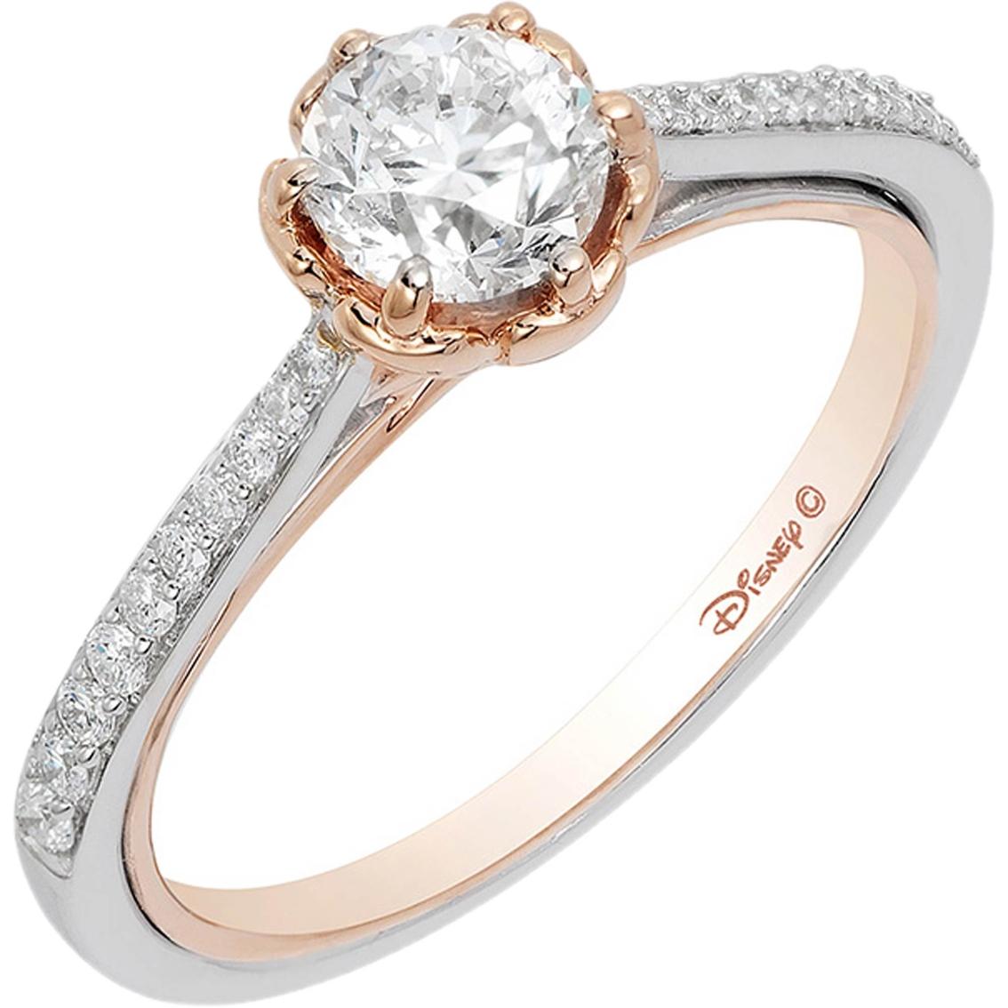 Disney Enchanted 14k Two Tone 7 8 Ctw Belle Bridal Ring