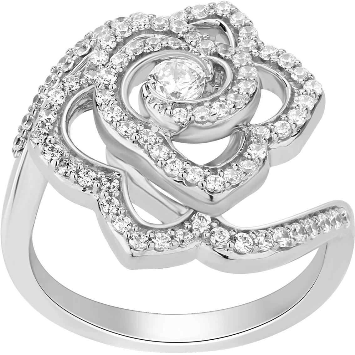 Enchanted Disney 14K White Gold 5 8 CTW Diamond Belle Rose Ring Size 7