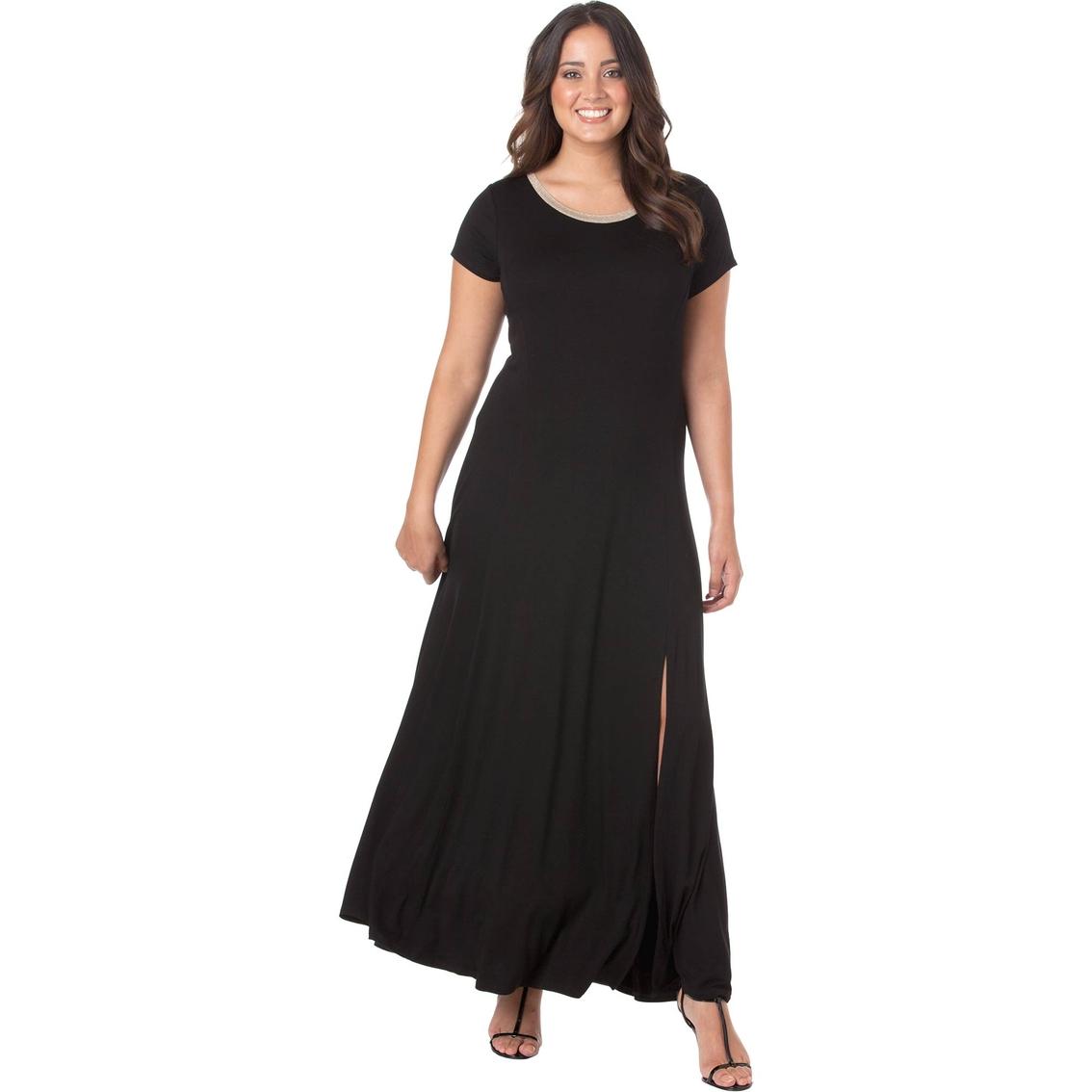 Michael Kors Plus Size Cap Sleeve Slit Maxi Dress   Dresses ...