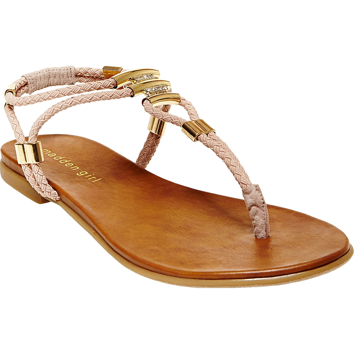 47b2fe75e74 Madden Girl Flexii Woven Thong Flat Sandal