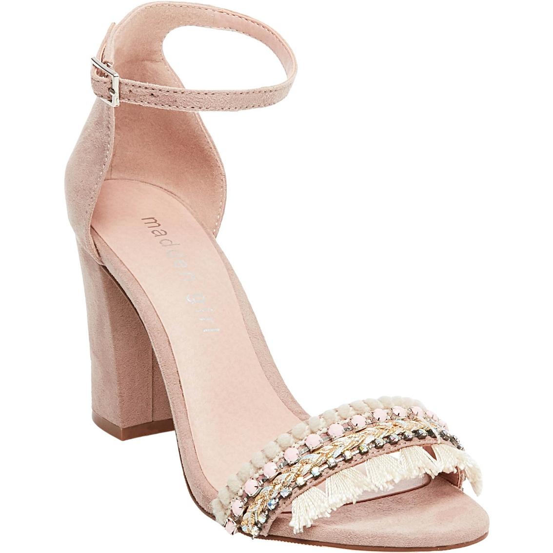 1419d5e3f Madden Girl Beellap One Band Block Heel Rhinestone Dress Sandals ...