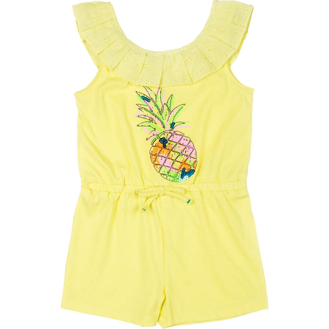 1a6b67bf7cc3 Little Lass Little Girls Pineapple Romper