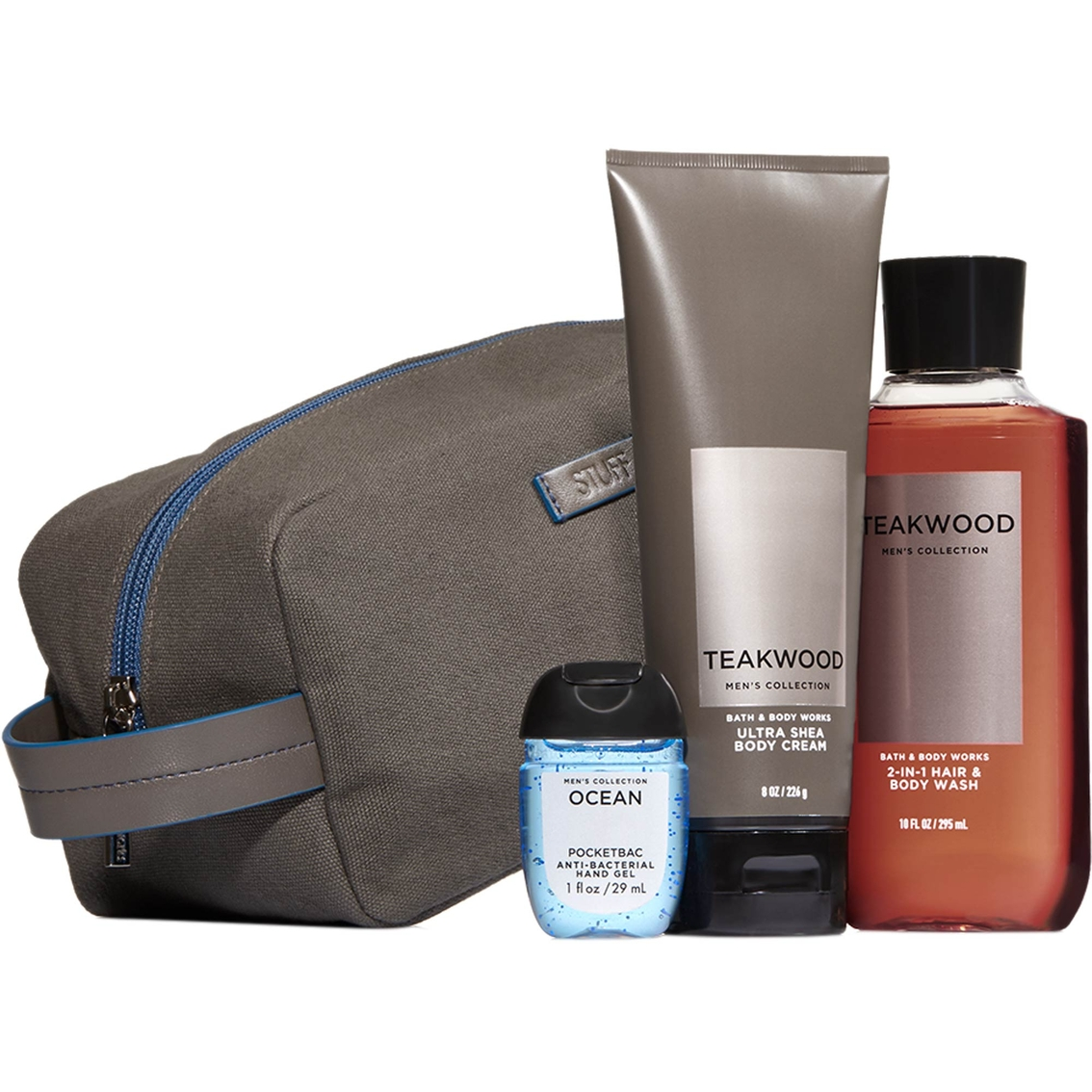 Bath body works men 39 s teakwood dopp kit gift set for Mens bath set
